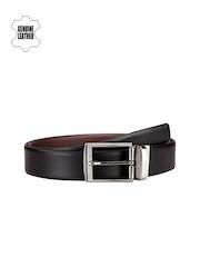 Teakwood Leathers Men Black & Brown Reversible Genuine Leather Belt