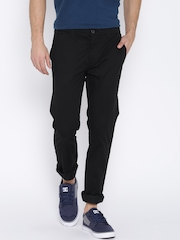 United Colors of Benetton Black Slim Casual Trousers