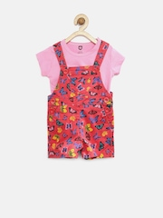 Baby League Girls Pink Butterfly Print Clothing Set