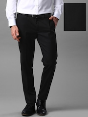 INVICTUS Black Slim Fit Formal Trousers