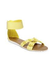 People Women Yellow Flats