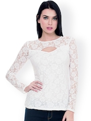 FabAlley White Lace Top
