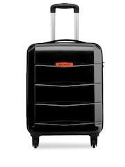 Safari Unisex Black Medium Trolley Suitcase