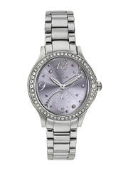 Titan Women Silver-Toned Dial Embellished Watch 95024SM02J