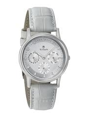 Titan Women Silver-Toned Dial Watch 2557SL01