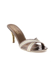 Catwalk Women Bronze and Silver-Toned Heels
