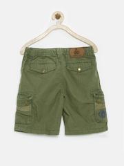 UFO Boys Olive Green Cargo Shorts