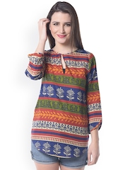Florrie Fusion Multicoloured Printed Top