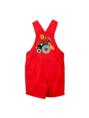 Beebay Boys Red Dungarees