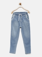 Gini and Jony Girls Blue Mid-Rise Washed Jeans