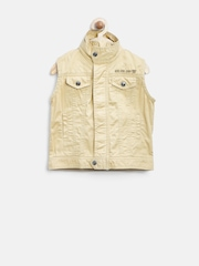 Gini & Jony Boys Beige Sleevless Jacket