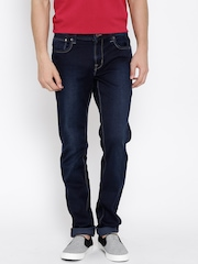 Indian Terrain Navy Washed Brooklyn Fit Jeans