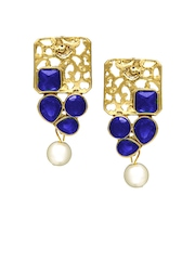 Peora Gold-Plated & Blue Drop Earrings