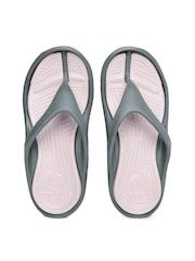 Crocs Unisex Grey & Pink Athens II Flip-Flops