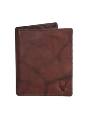 WildHorn Unisex Brown Genuine Leather Wallet