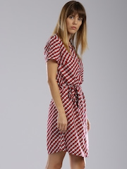 Tommy Hilfiger Red & White Tory Printed Shirt Dress