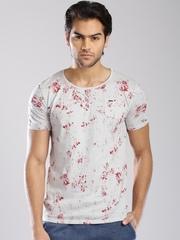 Breakbounce Grey Printed T-shirt