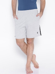 Playboy Men Grey Melange Assorted Shorts