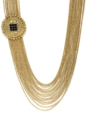 Zaveri Pearls Gold-Toned Haram Necklace