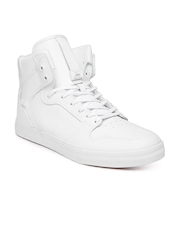 Supra Men White Vaider Leather Casual Shoes