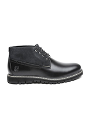 Timberland Men Black Leather Hiking Boots