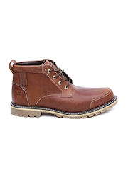 Timberland Men Brown Leather Waterproof Hiking Boots