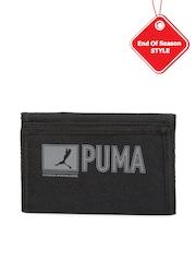 PUMA Unisex Black Printed Pioneer Wallet