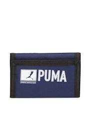 PUMA Unisex Navy Printed Pioneer Wallet