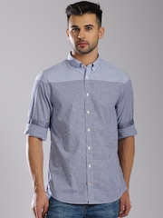 Tommy Hilfiger Blue Checked New York Fit Casual Shirt