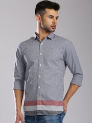 Tommy Hilfiger Blue Checked Casual Shirt