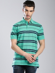 Tommy Hilfiger Green Striped Polo T-shirt