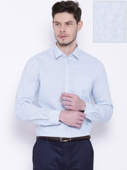 Arrow Blue & White Checked Slim Fit Formal Shirt