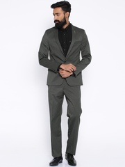 Arrow New York Grey Single-Breasted Suit