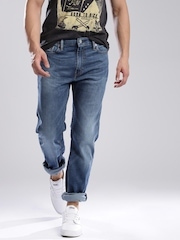 Levi's Blue Slim Straight Fit 513 Jeans