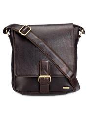 Teakwood Leathers Unisex Brown Genuine Leather Messenger Bag