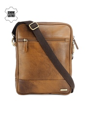 Teakwood Leathers Unisex Tan Brown Genuine Leather Messenger Bag