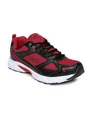 FILA Men Red & Black Lite Runner 3 Plus Running Shoes