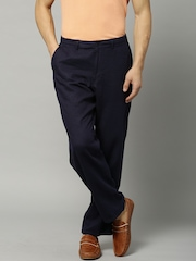 Marks & Spencer Navy Linen Chino Trousers