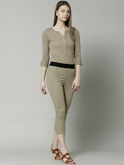 Marks & Spencer Beige Pull On Cropped Jeggings