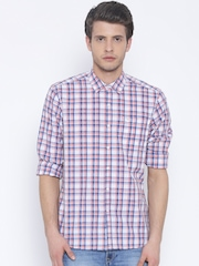 Lee Pink Checked Smart Slim Fit Casual Shirt
