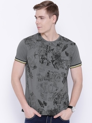 Lee Grey Printed T-shirt