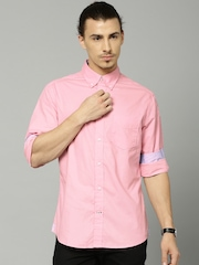 Marks & Spencer Pink Tailored Fit Casual Shirt
