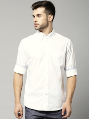 Marks & Spencer Blue Harbour Off-White Tailored Casual Shirt