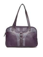 Baggit Purple Textured Shoulder Bag