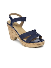 Inc.5 Women Navy Chunky Heels