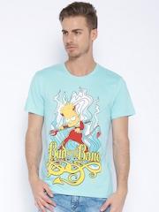 Simpsons Blue Printed T-shirt