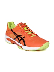 ASICS Men Orange Gel-Solution Speed 3 Sports Shoes