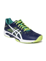 ASICS Men Navy Gel-Solution Speed 3 Sports Shoes