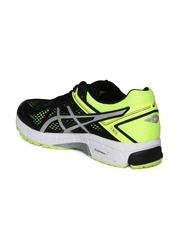 ASICS Men Black & Fluorescent Green GT-1000 4 Running Shoes