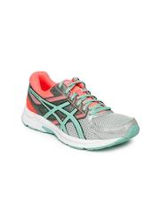 ASICS Women Grey & Neon Pink Gel Contend 3 Running Shoes